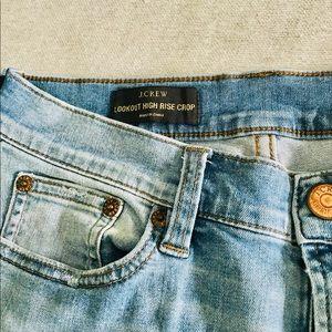 J. Crew Lookout High Rise Crop Jeans Light Wash